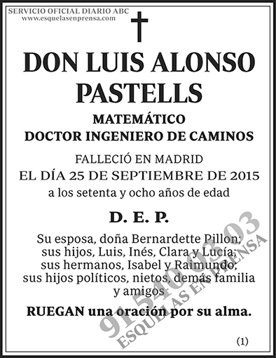 Luis Alonso Pastells